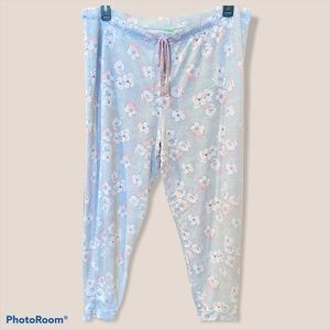 XXL Gray jogger style lounge pants-cherry blossom